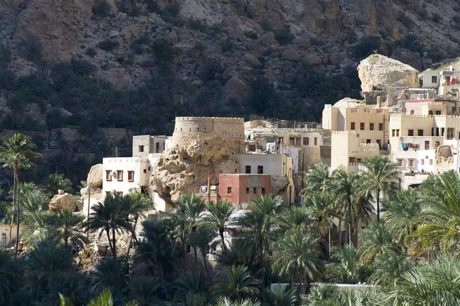 village in mountain Oman