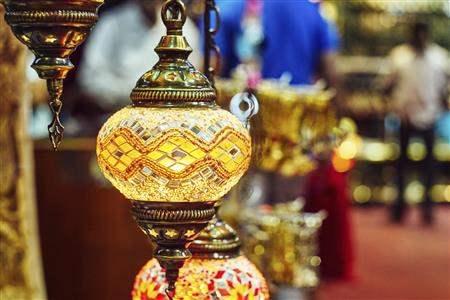 Lantern in souk Muscat Oman
