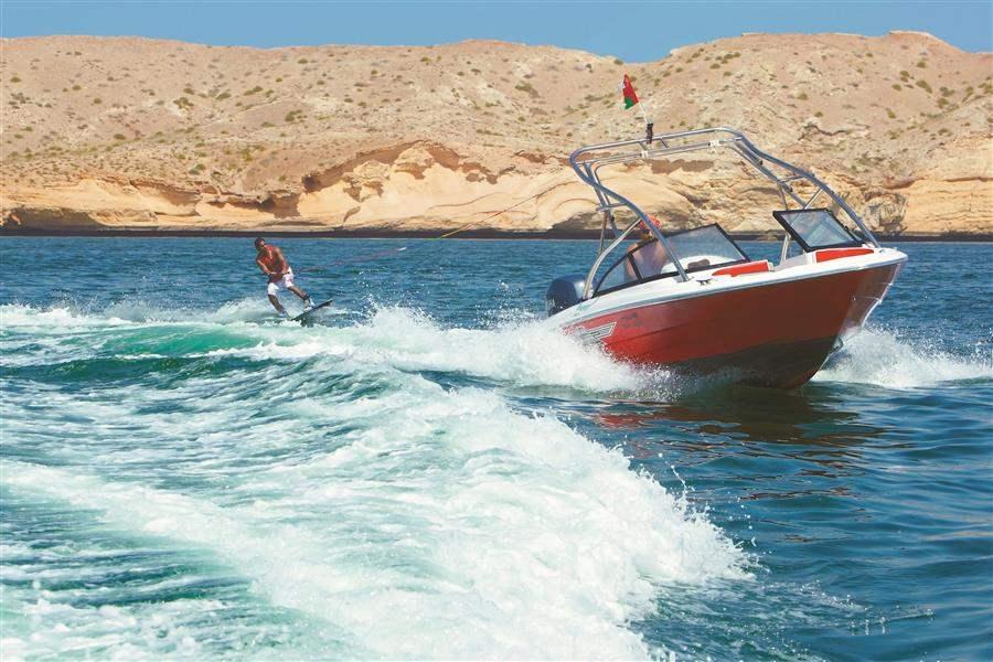 Shangri Las Barr Al Jissah Resort and Spa Al Waha Man Water Skiing