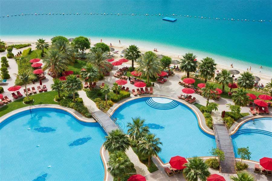 Khalidiya Palace Rayhaan Pool Aerial