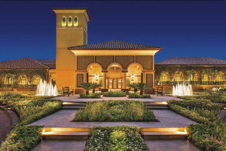The Ritz Carlton Dubai Entrance Evening