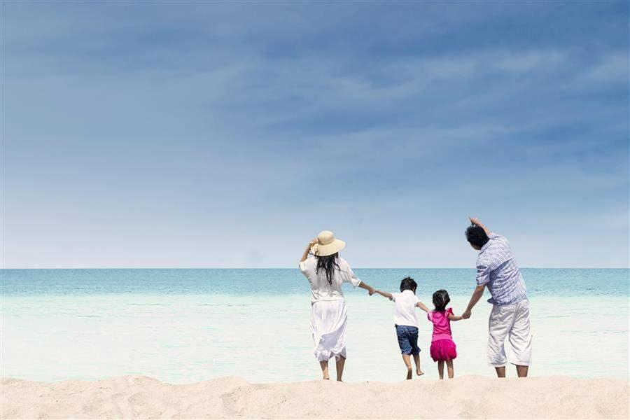 Gulf Coast Florida beach family