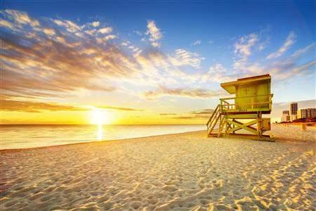 Miami Beach Florida sunset