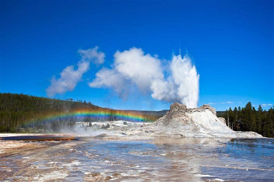 Yellowstone National Park Castle Geyser