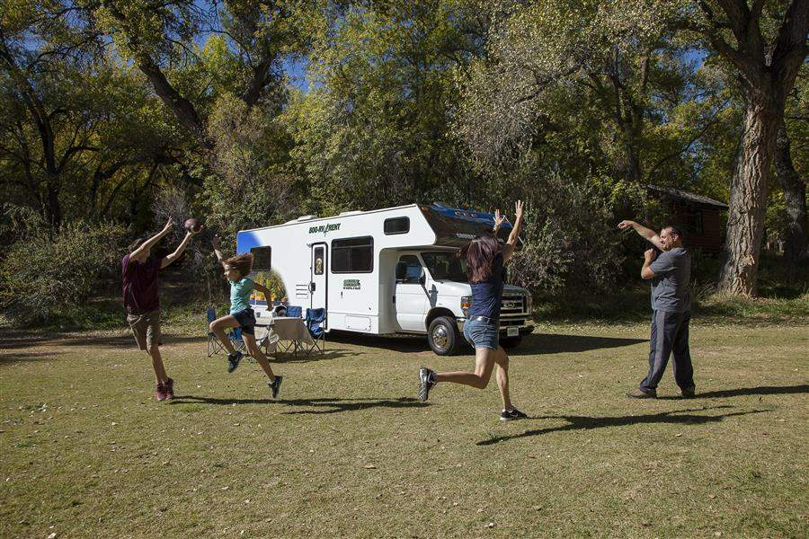 Motorhome family campsite