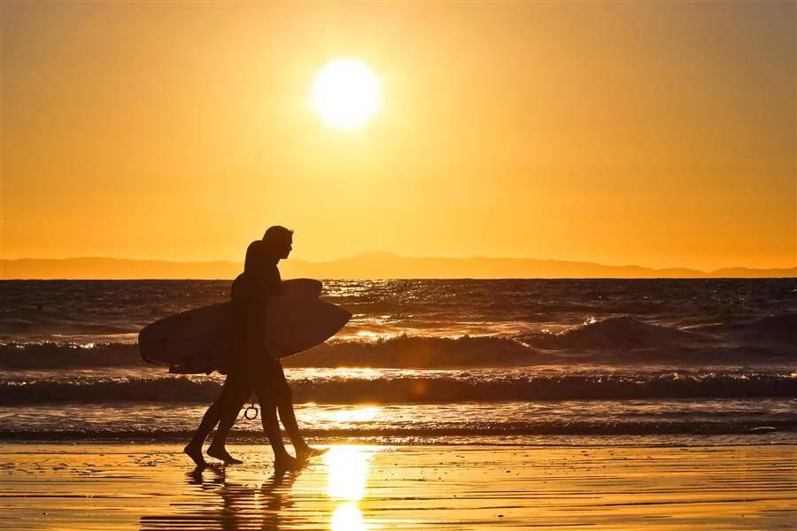 Newport Beach California surfers