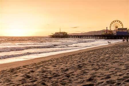 Santa Monica California Pier Sunset