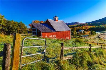 New England barn Vermont
