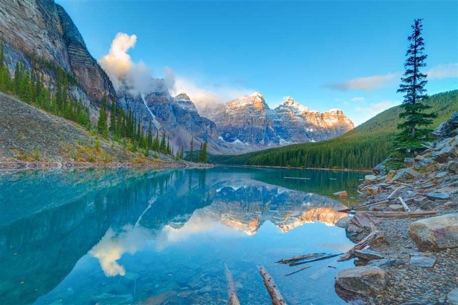 Moraine Lake Banff reflections