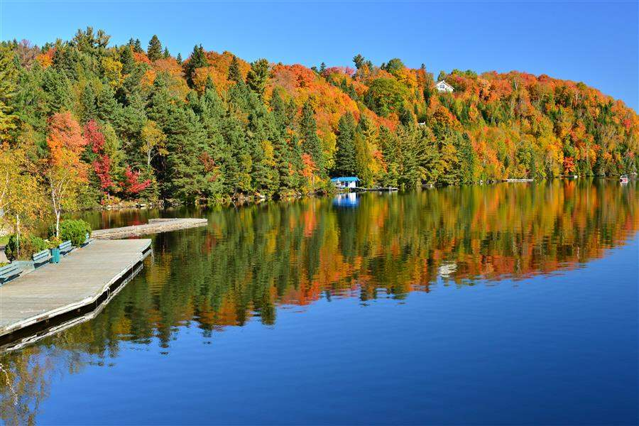 Laurentian Lake Canada autumn