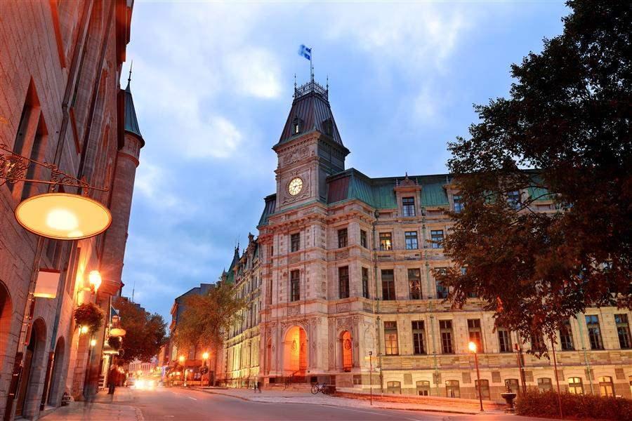Old Quebec dusk street
