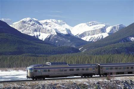 Via Rail Canadian mountains