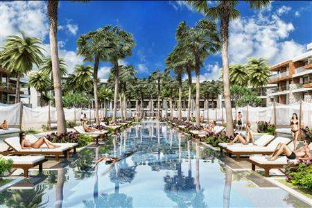 Breathless Riviera Cancun Resort  and Spa Pool Side