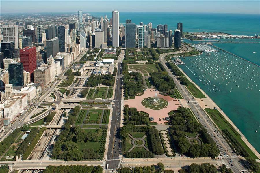 Wyndham Grand Chicago Riverfront Aerial
