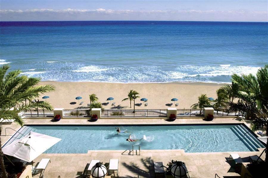 Atlantic Resort Spa Pool Aerial