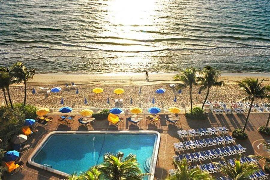 Ocean Sky Hoteland Resort Pool Aerial