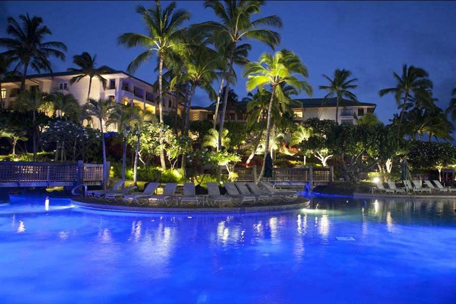 Grand Hyatt Kauai Resort and Spa Pool Night