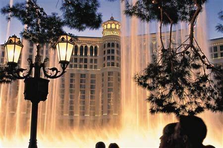 Fountains at dusk