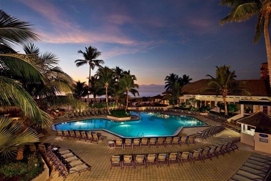 Hilton Marco Island Beach Resort  and Spa Pool Night