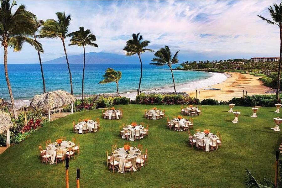 Four Seasons Resort Mauiat Wailea Wedding Aerial