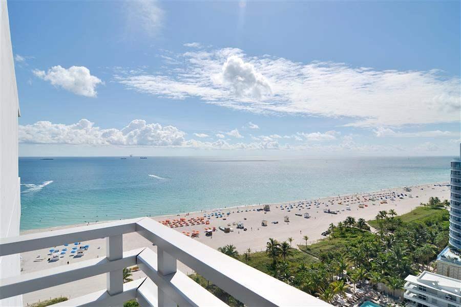 Loews Miami Beach Hotel Beach Aerial