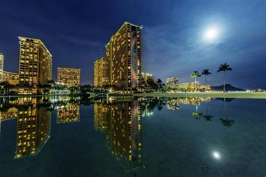 Hilton Hawaiian Village Exterior Night