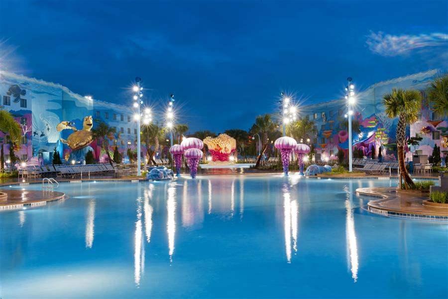 Disneys Artof Animation Resort Pool At N Ight
