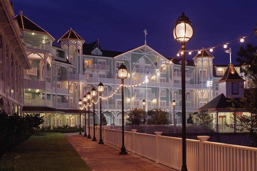 Disneys Beach Club Resort Exterior Night