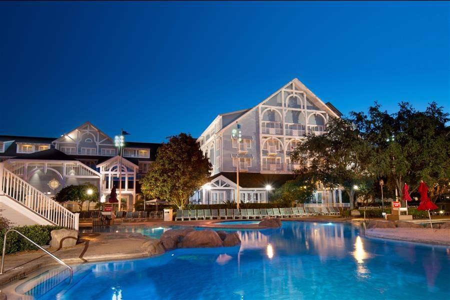 Disneys Beach Club Resort Pool Night