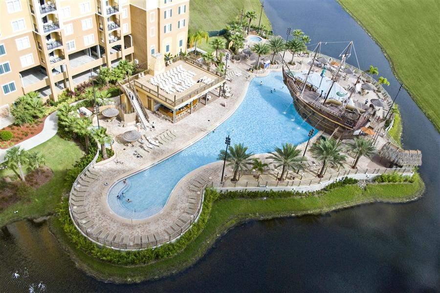 Lake Buena Vista Resort Village and Spa Pool Aerial