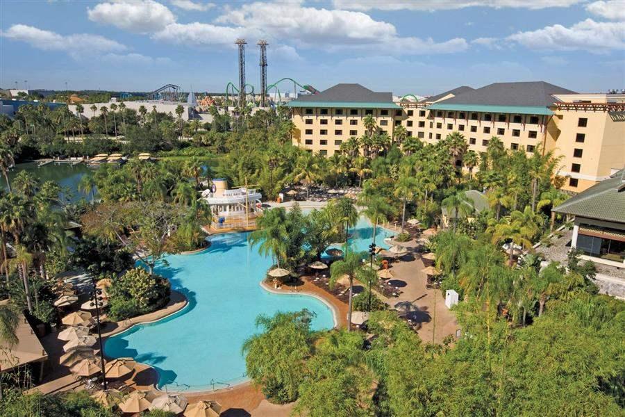 Loews Royal Pacific Resortat Universal Orlando Resort Aerial