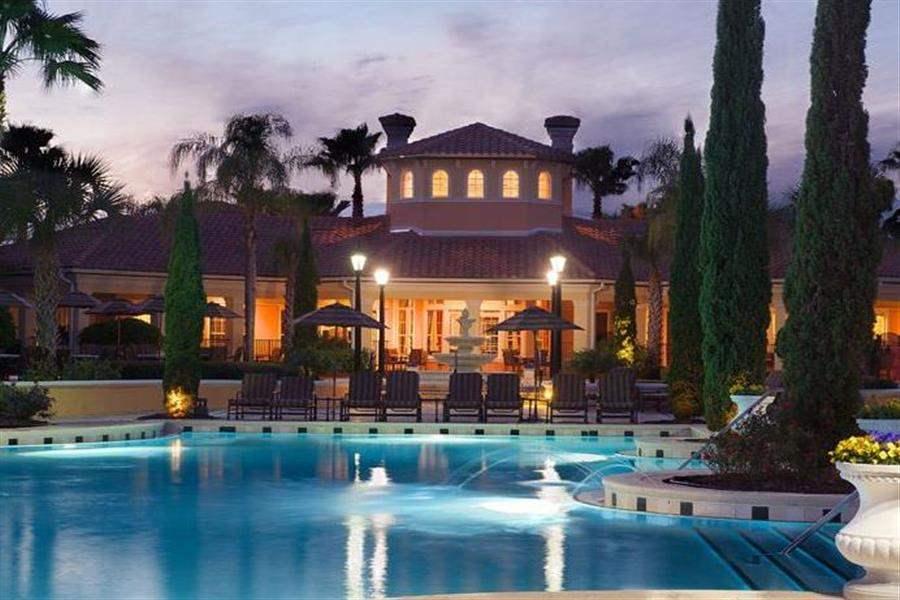 Worldquest Resort Orlando Pool Night
