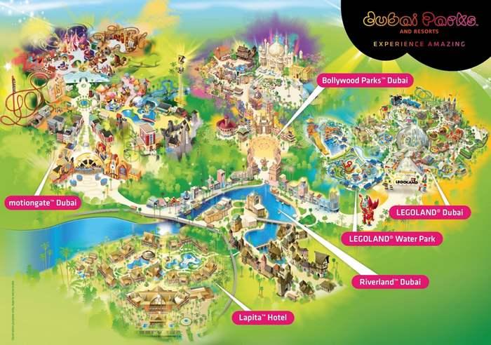 Dubai Park map